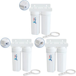 Double Water Filters Under Sink