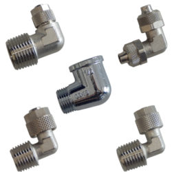 Chrome Plated Angle Fittings For Water Filters