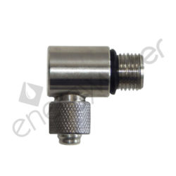 Elbow fitting SS304 1/4″ male - 3/8″ tube nut