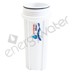 White sump for filter housing 2P 10″ - 1/4″ & 1/2″ Proteas