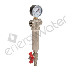 Brass chrome plated self-cleaning filter 1″ - 100μm