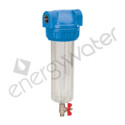 Filter housing 3P 10″ - 1/2″ with drain valve