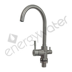 Curved three-way faucet SS304