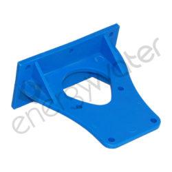 Βάση μονή πλαστική μπλε για φιλτροθήκες κεντρικής παροχής 5″, 7″, 10″