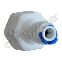 Ρακόρ πλαστικό ίσιο 1/2″ θηλ. - 4x6 σωλ. κουμπωτό