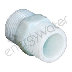 Plastic connector 1″ male thread