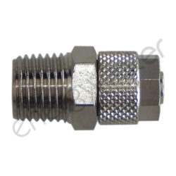 Straight chrome plated fitting 1/4″ M - 6x8 tube nut