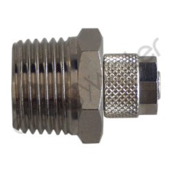 Straight chrome plated fitting 1/2″ M - 6x8 tube nut