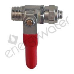 Brass ball valve 1/4″ M - 8x10 (3/8″) tube nut