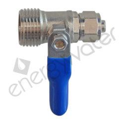 Brass ball valve 1/2″ M - 8x10 (3/8″) tube nut