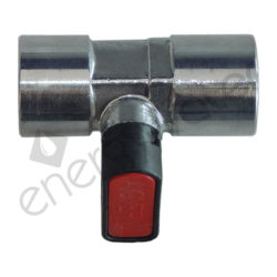 Chrome plated brass ball valve 3/8″ F - 3/8″ F 20 bar