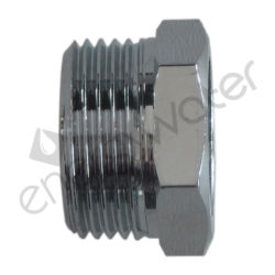 Chrome plated brass connector 1/2″ F - 3/4″ M