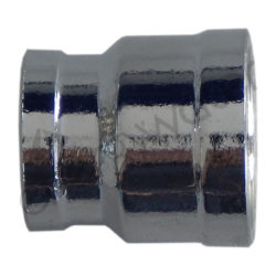 Chrome plated brass connector 3/8″ F - 1/2″ F