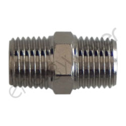 Chrome plated brass connector 1/4″ male thread