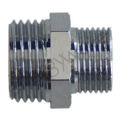 Chrome plated brass connector 3/8″ male thread - 1/2″ male thread