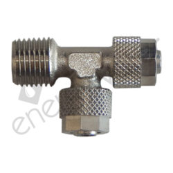 Metallic tee 1/4'' M - 4x6 tube - 4x6 tube