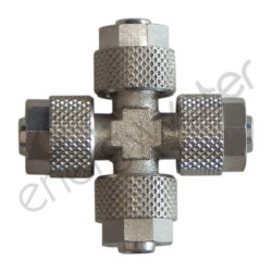 Metallic cross for 6x8 tube