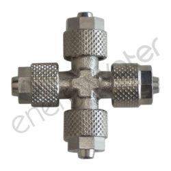 Metallic cross for 4x6 tube