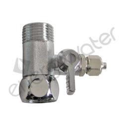 Chrome plated brass coupling 1/2″ with valve for tube 4x6