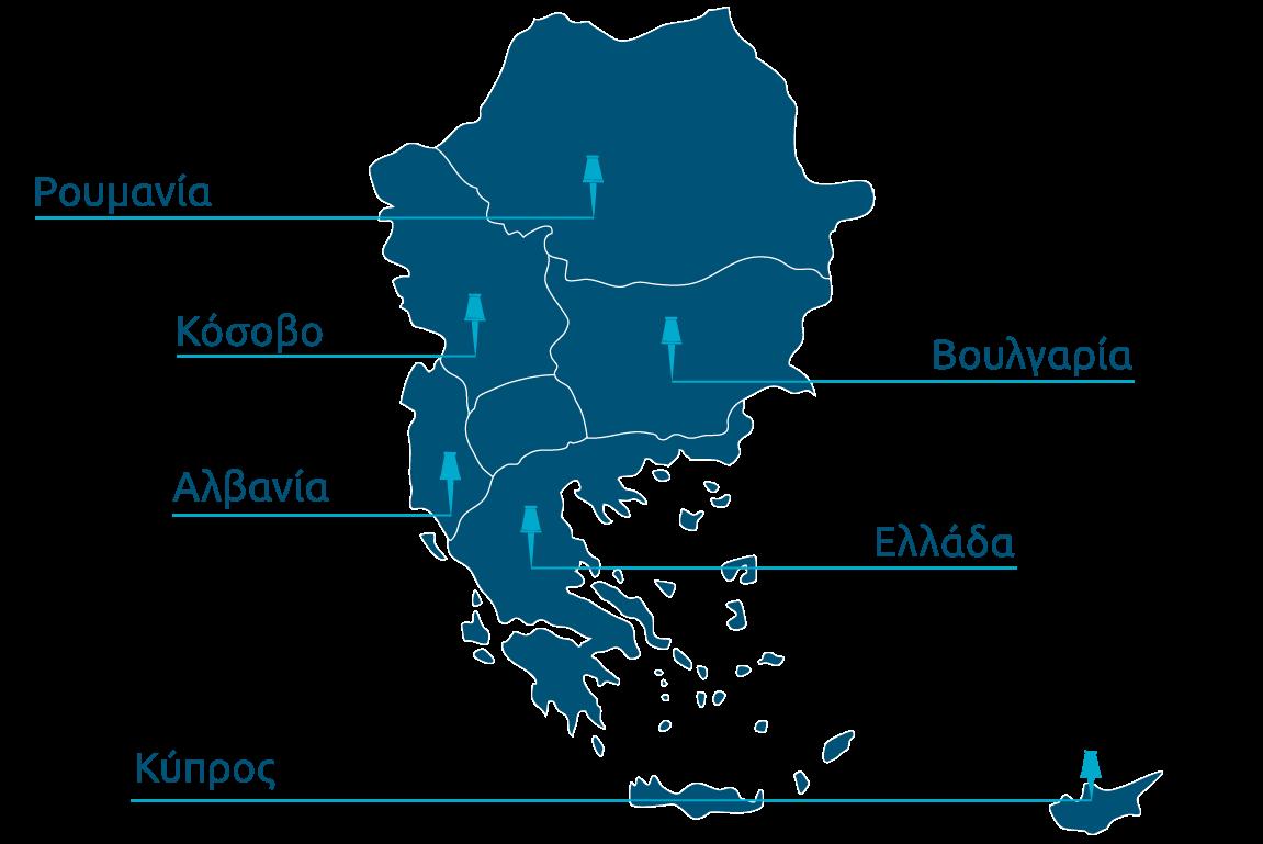 Χάρτης χωρών δρασρτηριοποίησης